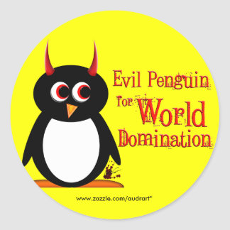 Penguin for World Domination Stickers