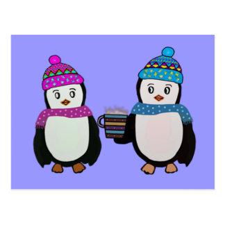 Penguin Friendship Postcard
