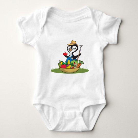 Penguin Gardener Baby Bodysuit