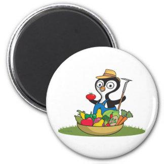 Penguin Gardener Refrigerator Magnet