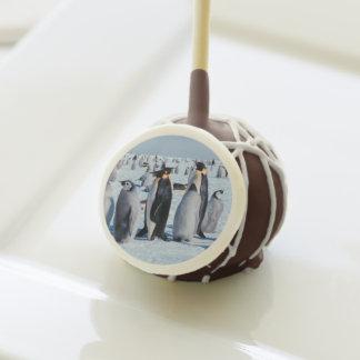 Penguin Gathering Cake Pops