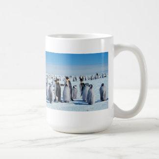Penguin Gathering Classic White Coffee Mug