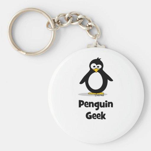 Penguin Geek Key Chain