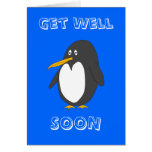 Penguin Get Well Soon Card