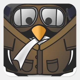 Penguin Gifts Pilot Square Sticker