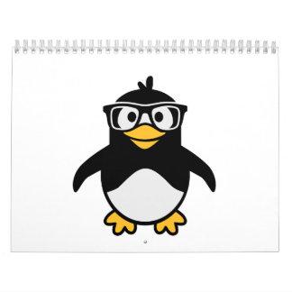 Penguin glasses calendar