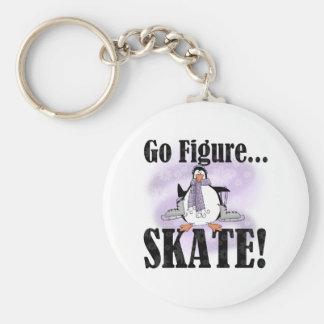 Penguin Go Figure Skate Keychain