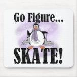 Penguin Go Figure Skate Mouse Pad