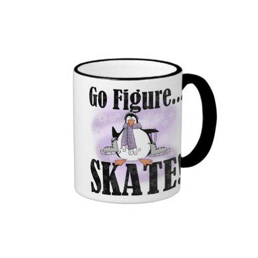 Penguin Go Figure Skate Ringer Coffee Mug