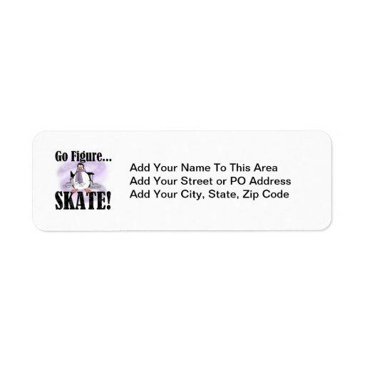 Penguin Go Figure Skate T-shirts and Gifts Return Address Label