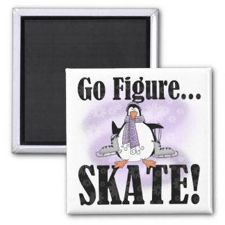 Penguin Go Figure Skate T-shirts and Gifts Magnet