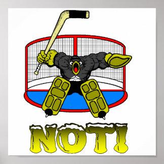 Penguin Goalie Poster
