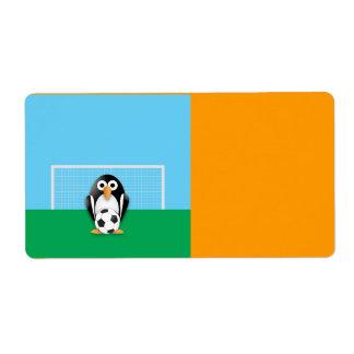 Penguin goalkeeper shipping label