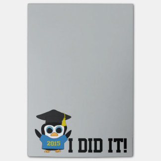 Penguin Grad Wearing Blue & Gold 2015 Tee Post-it Notes