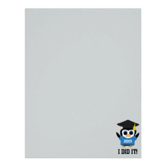 Penguin Grad Wearing Blue & White 2015 Tee Letterhead