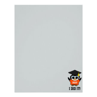 Penguin Grad Wearing Orange & White 2015 Tee Letterhead