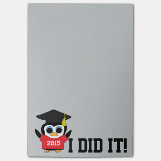 Penguin Grad Wearing Red & White 2015 Tee Post-it Notes