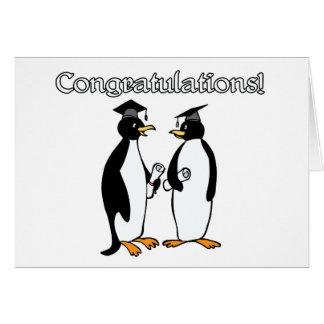 Penguin Graduates Greeting Card