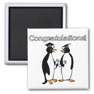 Penguin Graduates Refrigerator Magnet