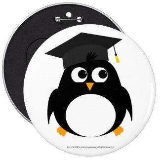 Penguin Graduation Design - Colossal Round Badge Button