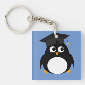 Penguin Graduation Design - Double-sided Keychain