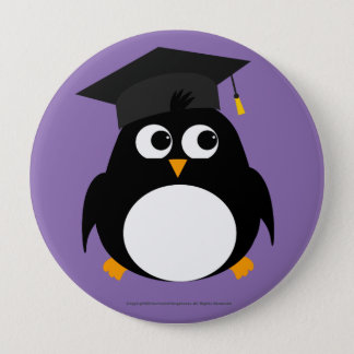 Penguin Graduation Design - Round Badge Button