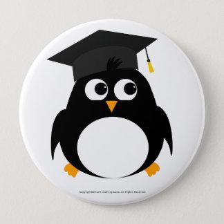 Penguin Graduation Design - Round Badge Pinback Button