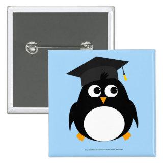Penguin Graduation Design - Square Badge Button