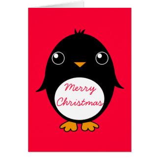 penguin greeting card :  Merry Chrismas