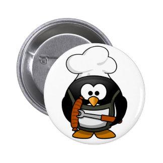 Penguin Grill Pinback Button