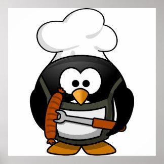 Penguin Grill Print