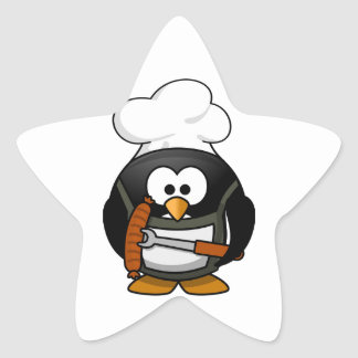 Penguin Grill Star Sticker