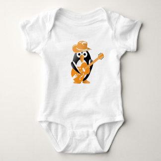 Penguin guitarist baby bodysuit