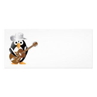 Penguin guitarist rack card