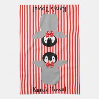 Penguin Hand Towels