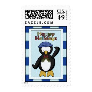 Penguin Happy Holidays Postage