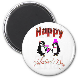 Penguin Happy Valentine's Day Magnets