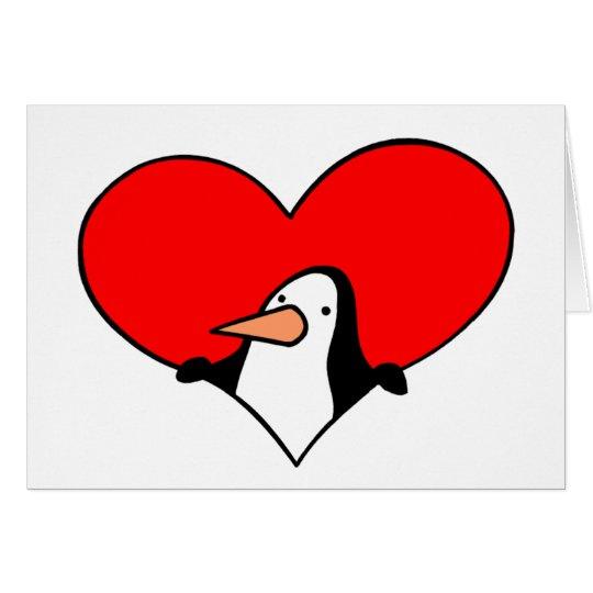 Penguin Heart card