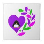 Penguin Heart Ceramic Tile