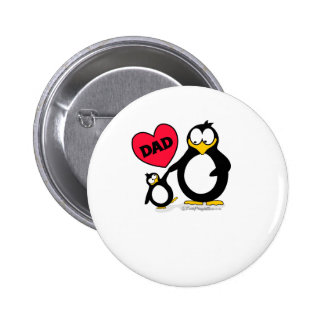 Penguin Heart Dad Buttons