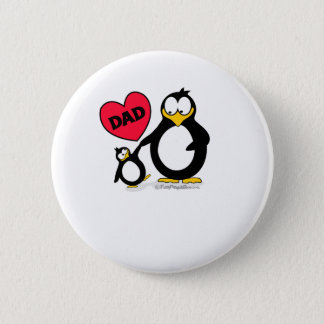 Penguin Heart Dad Pinback Button
