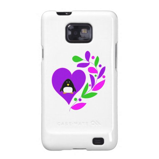 Penguin Heart Samsung Galaxy S2 Covers