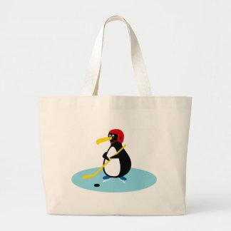 Penguin Hockey Canvas Bag