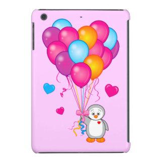 Penguin Holding Balloons in the Shape of a Heart iPad Mini Retina Case