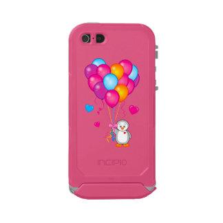 Penguin Holding Heart-Shaped Balloons Incipio ATLAS ID™ iPhone 5 Case