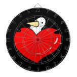 Penguin holding red heart cute design dartboard