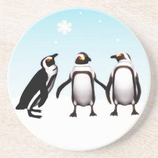 Penguin Holiday Coaster