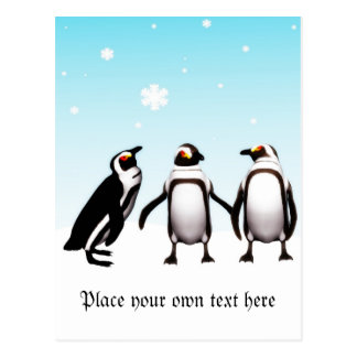 Penguin Holiday Post card