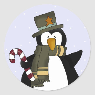 Penguin Holiday Stickers