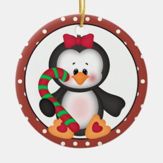 Penguin Holiday Wishes ornament